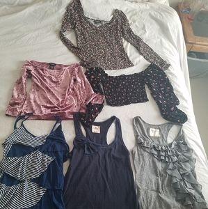 Lot of 6 women's shirts